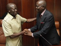 Photos:  Governor Adams Oshiomhole during the inauguration of the EBS Board