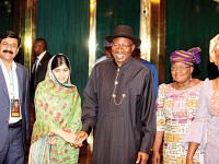 Jonathan meets Malala, hopeful of Chibok girls' rescue