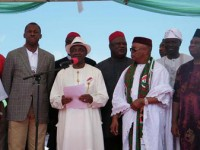 Chime blasts Enugu federal lawmakers for shunning pro-Jonathan rally