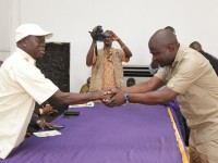 Oshiomhole targets new investors, swears-in Commissioner