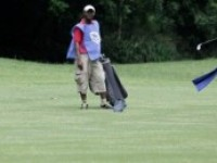 PHOTO NEWS:      Picture shows Chineyelo Onochie (Participant at the Standard Bank Regional Golf Tournament in Accra)
