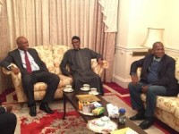 Saraki, Dogara visit Buhari in London * Say he is Healthy, No cause for alarm