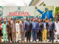 Photo News: Edo NUJ Visits  Gov. Obaseki