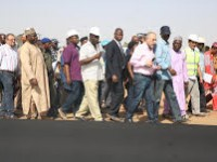 FASHOLA INSPECTS HIGHWAY PROJECTS IN YOBE  AND BORNO STATES ON DAY THREE OF HIS TOUR OF THE NORTH EAST ZONE