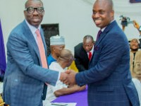 Obaseki swears-in Commissioners, Advisers, urges them to work for Edo people   …Sack us if we fail, says appointee