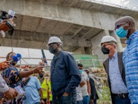 FASHOLA INSPECTS ONGOING CONSTRUCTION OF MAIN WORKS AND ASSOCIATED INFRASTRUCTURE OF THE 2ND NIGER BRIDGE LINKING ANAMBRA AND DELTA STATES