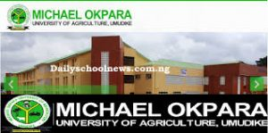 Students of the Michael Okpara University of Agriculture Umudike, in Abia State