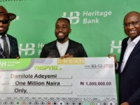 Creative Industry gets new leaf of life with N5bn funds- Heritage Bank  …As winner of Ynspyre Account online giveaway received N1m